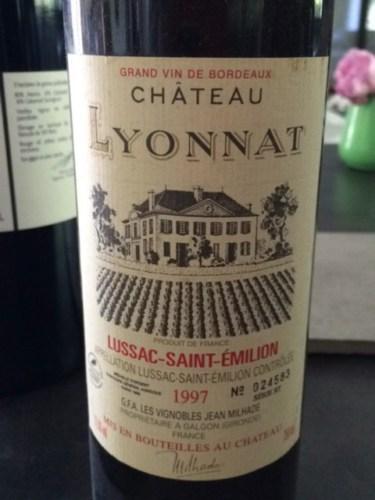 Ch teau lyonnat emotion lussac st milion 1997 wine info for Chateau lyonnat