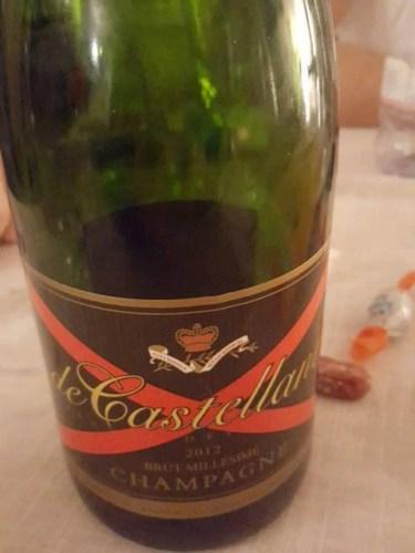 Champagne brut millésimé de castellane 2012