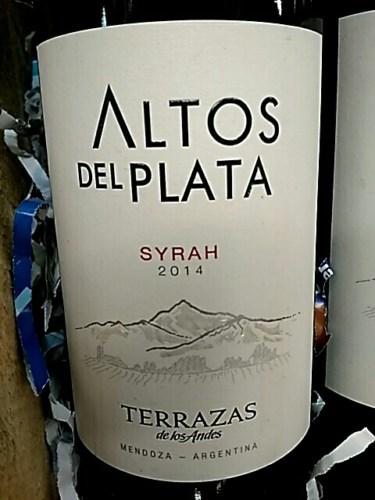 Terrazas De Los Andes Altos Del Plata Syrah 2014