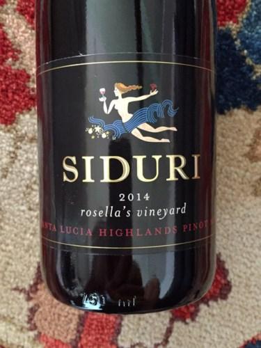 Roswila S Tarot Gallery Journal: Siduri Rosella's Vineyard Pinot Noir 2014