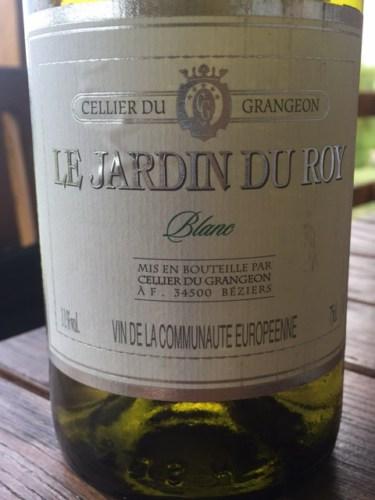Grangeon le jardin du roy blanc wine info for Le jardin high wine