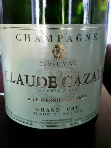 Claude cazals champagne cuv e vive le mesnil sur oger blanc de blancs grand cru nv wine info for Salon blanc de blancs le mesnil sur oger