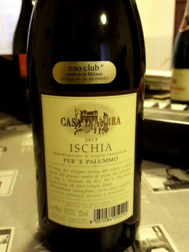 Tommasone Ischia Per E Palummo 2013 | Wine Info