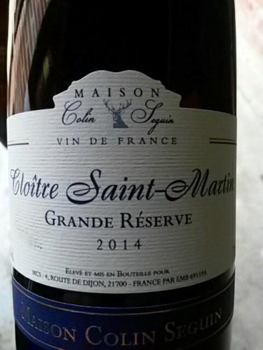 Cloitre saint martin grand reserve maison colin seguin for Champagne seguin