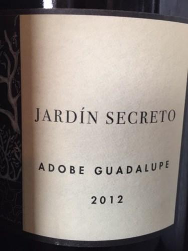 Adobe guadalupe jard n secreto wine info for Jardin secret wine