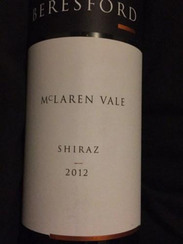 beresford estate shiraz 2012 | wine info
