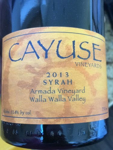 Cayuse vineyards armada vineyard syrah 2013 wine info for Cayuse vineyards