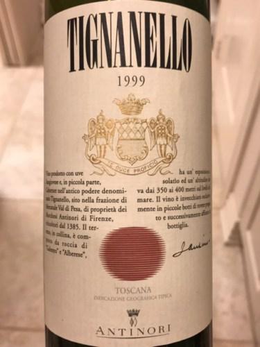 Marchesi Antinori Tignanello 1999 Wine Info