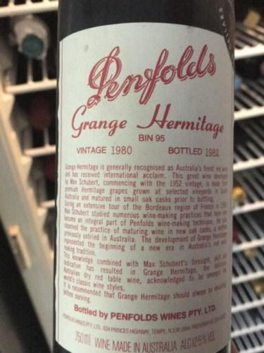 Penfolds Grange Hermitage 1983 Wine Info
