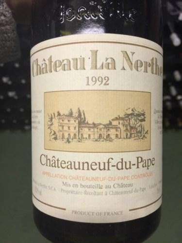 Ch teau la nerthe ch teauneuf du pape 1992 wine info for Chateau la nerthe