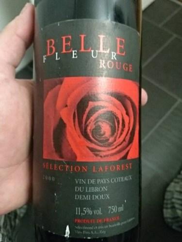 Belle Fleur Rouge Selection Laforest Coteaux Du Libron Demi Doux