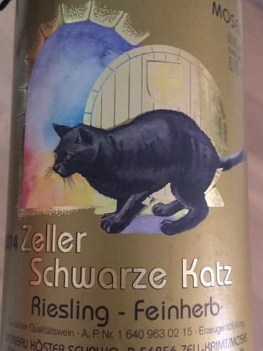 Zeller Schwarze Katz Feinherb Riesling 2014 Wine Info