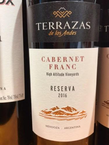 Terrazas De Los Andes High Altitude Vineyards Reserva Cabernet Franc