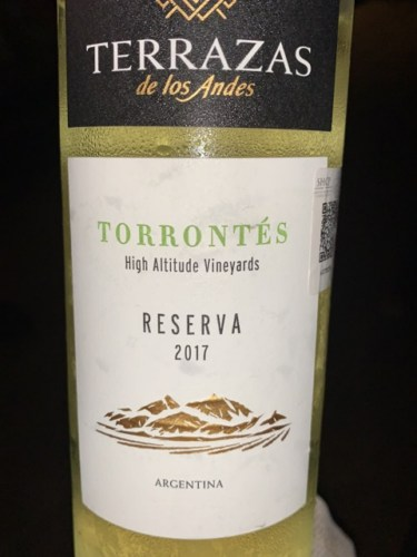 Terrazas De Los Andes High Altitude Vineyards Reserva Torrontés 2017