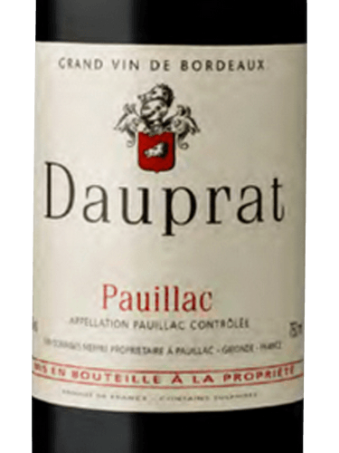 Dauprat Pauillac Wine Info