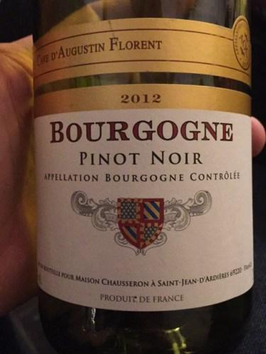Louis serrignon la cave d 39 augustin florent bourgogne pinot for La fenetre a cote pinot noir 2012