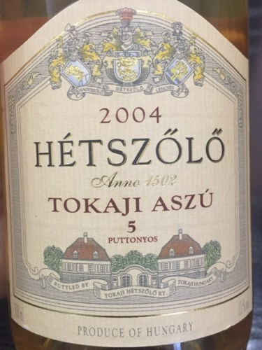 Billedresultat for hetszolo tokaji aszu 5 puttonyos 2004