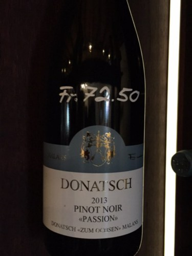 Donatsch passion pinot noir 2013 wine info for Best pinot noir in the world