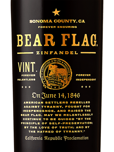 6f80cd0d05 Bear Flag Zinfandel