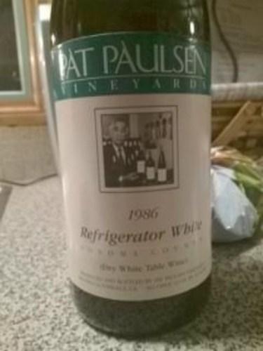 Pat Paulsen Refrigerator White 1986 Wine Info