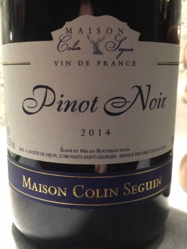 Great Maison Colin Seguin Pinot Noir 2014 | Wine Info