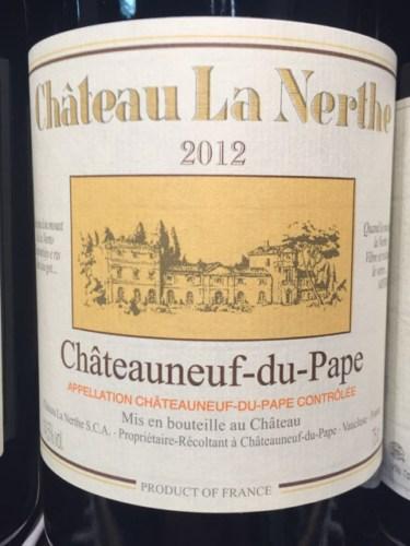 Ch teau la nerthe ch teauneuf du pape 2012 wine info for Chateau la nerthe