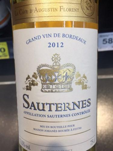 La Cave DAugustin Florent Sauternes 2012