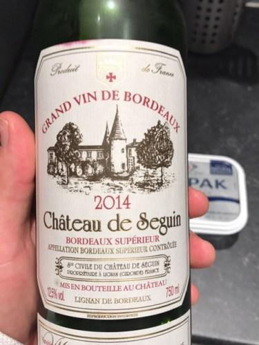 Ch teau de seguin bordeaux sup rieur 2014 wine info for Champagne seguin