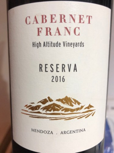 Terrazas De Los Andes High Altitude Vineyards Reserva Cabernet Sauvignon