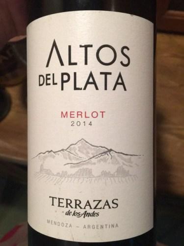 Terrazas De Los Andes Altos Del Plata Merlot