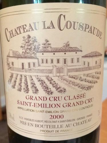 Château La Couspaude Saint-Émilion Grand Cru Classé 2000 | Wine Info