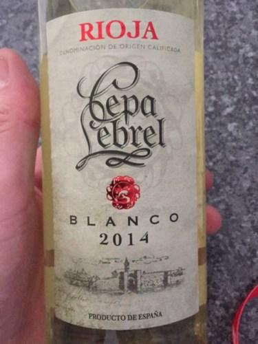 2014 Cepa Lebrel Rioja Blanco Vivino