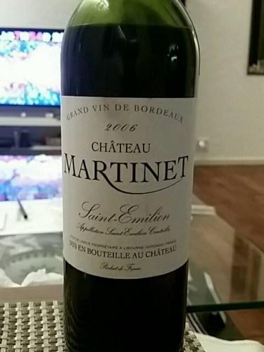 Château Martinet Saint-Émilion Grand Cru 2006 | Wine Info