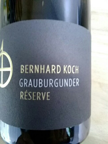 Bernhard koch grauburgunder reserve 2009 wine info for Koch 3 winde
