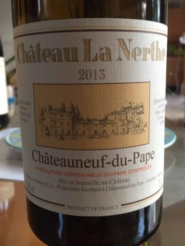 Ch teau la nerthe ch teauneuf du pape 2013 wine info for Chateau la nerthe