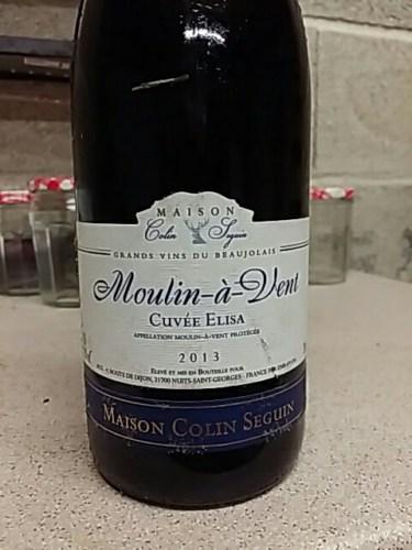 Maison colin seguin moulin a vent cuv e elisa 2013 wine info for Champagne seguin