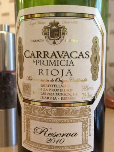 Bodegas casa primicia carravacas de primicia reserva 2013 wine info - Bodegas casa primicia ...