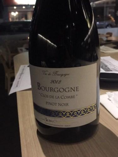 Jean chartron bourgogne clos de la combe pinot noir 2012 for La fenetre a cote pinot noir 2012