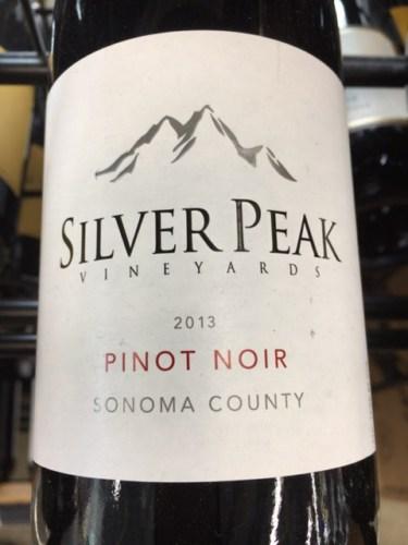 Silver Peak Pinot Noir 2013 Wine Info