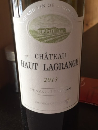 ch teau haut lagrange pessac l ognan 2013 wine info. Black Bedroom Furniture Sets. Home Design Ideas