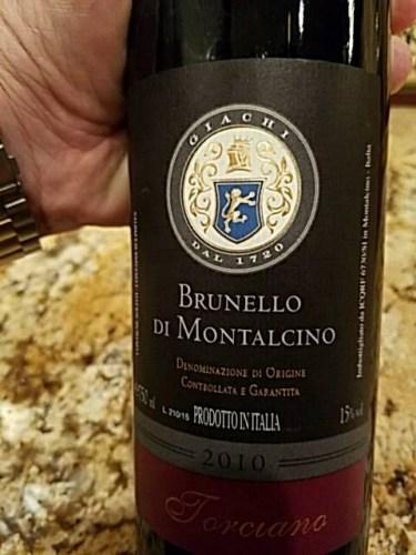 torciano brunello di montalcino 2010 wine info. Black Bedroom Furniture Sets. Home Design Ideas