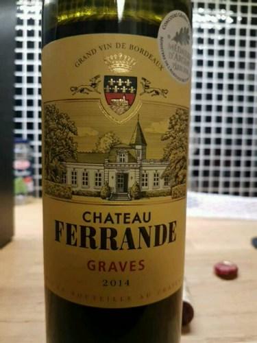 Ch teau ferrande graves 2014 wine info for Chateau ferrande