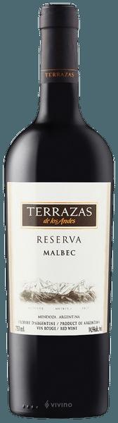 Terrazas De Los Andes Reserva Malbec 2017