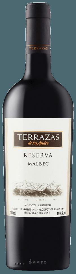 Terrazas De Los Andes Reserva Malbec Vivino
