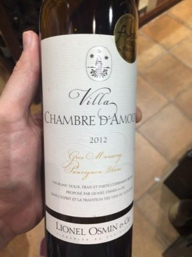 Lionel Osmin & Cie Villa Chambre D'Amour Blanc 1997  Wine
