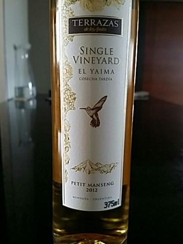 Terrazas De Los Andes Single Vineyard El Yaima Petit Manseng 2012