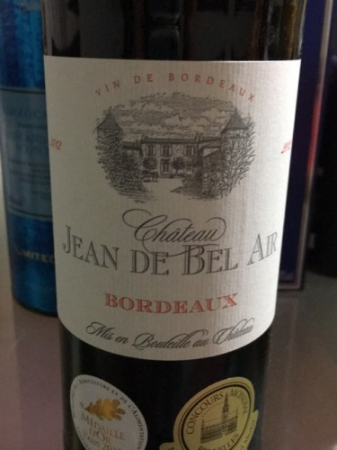 ch teau jean de bel air bordeaux 2012 wine info. Black Bedroom Furniture Sets. Home Design Ideas