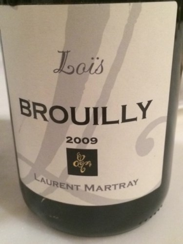 laurent martray brouilly combiaty 2009 wine info. Black Bedroom Furniture Sets. Home Design Ideas