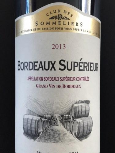 Club des sommeliers bordeaux sup rieur 2013 wine info for Discotheque a bordeaux