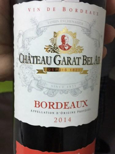 Louis Eschenauer Chateau Garat Bel Air Bordeaux 2014 | Wine Info
